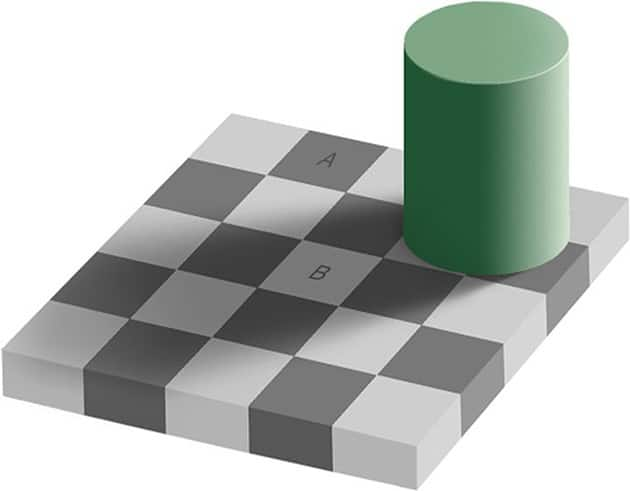 ilusao-optica-sombras-xadrez