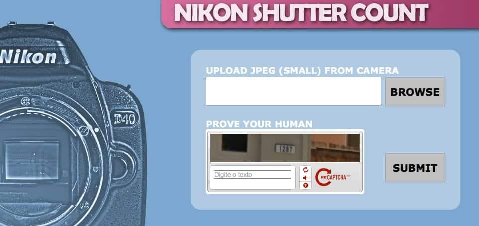 Contagem Cliques Câmeras Nikon