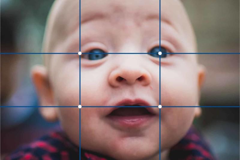 Regra dos Terços em Retratos bebês