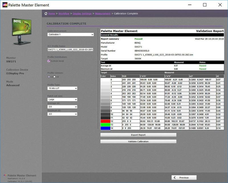 Calibração Monitor BenQ SW hardware