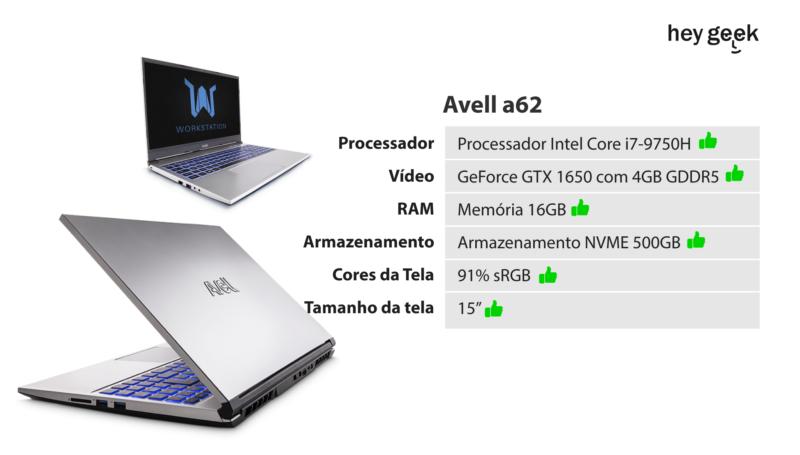 Notebook Avell para edição de vídeos a62